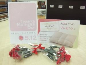 母の日のプレゼントには、オーダーメイド枕&オーダー枕ギフト券 2013.05.01